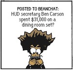 Thumbnail image for The Beandocks: Dr. Ben Carson gets a new dining room table (toon)