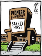 Thumbnail image for La Cucaracha: Don't worry, kids, you're safe here at school (toon)