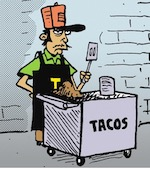 Thumbnail image for La Cucaracha: The Taco Nazi will NOT serve ammosexuals (toon)