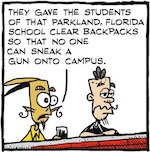 Thumbnail image for La Cucaracha: How effective are clear backpacks, anyway? (toon)