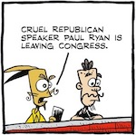 Thumbnail image for La Cucaracha: Why is the GOP's Paul Ryan leaving Congress? (toon)