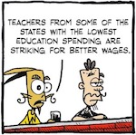 Thumbnail image for La Cucaracha: Why do ammosexuals want to arm teachers? (toon)