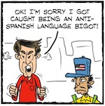 Thumbnail image for La Cucaracha: That NYC racist lawyer apologizes, Part II (toon)