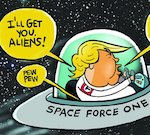 Thumbnail image for Trump Announces 'Space Force One' (toon)