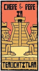 Thumbnail image for La Cucaracha: In ancient Tenochtitlan, Chepe y Pepe use the ATM (toon)