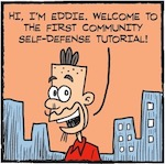 Thumbnail image for La Cucaracha: Time for our community to learn self-defense! (toon)