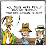 Thumbnail image for La Cucaracha: Things were cooler back then before Columbus (toon)