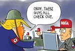 Thumbnail image for Trump reveals new cybersecurity plan (toon)