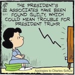 Thumbnail image for La Cucaracha: Lucille van Pelt joins White House press office (toon)