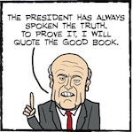 "Thumbnail image for La Cucaracha: Giuliani defends Trump's version of ""truth"" (toon)"