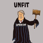Thumbnail image for Lying Judge Brett Kavanaugh for SCOTUS? Unfit at any speed (toon)