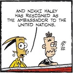 Thumbnail image for La Cucaracha: What's next for U.N. Ambassador Nikki Haley? (toon)