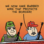 Thumbnail image for La Cucaracha:  New barbedwire in the border wall!