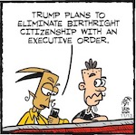 Thumbnail image for La Cucaracha: Racist GOP wants to stop 'birthright citizenship' (toon)