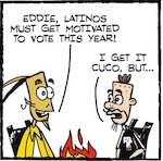 Thumbnail image for La Cucaracha: What will it take for you to vote? Tacos? (toon)