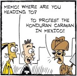 Thumbnail image for La Cucaracha: Migrant caravan muddles Mexican stereotypes (toon)