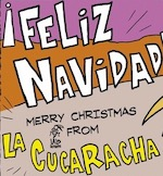 Thumbnail image for Feliz Navidad and Merry Christmas from La Cucaracha (toon)