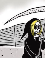 Thumbnail image for Homeland Security boss lady Kirstjen Nielsen visits the border (toon)