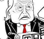 Thumbnail image for Baby Donald is a dumb, determined, and damned liar (toon)