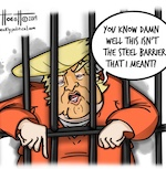 Thumbnail image for Yo, Donald, we got your 'steel slats' right here! (toon)
