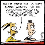 Thumbnail image for La Cucaracha: When will Baby Donald put away childish things? (toon)