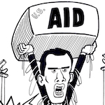 Thumbnail image for Does proposed U.S. aid to Venezuela have strings attached? (toon)