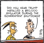 Thumbnail image for La Cucaracha: What's the deal on the White House 'simulator'? (toon)