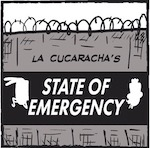 Thumbnail image for La Cucaracha: Simulated state of Emergency at 1600 Pennsylvania Ave.