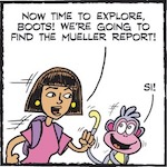 Thumbnail image for La Cucaracha: Explorers Dora and Boots search for Mueller Report (toon)