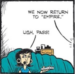 Thumbnail image for La Cucaracha: Teacher Vero thinks TV is a 'vast wasteland' (toon)