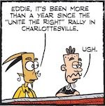 "Thumbnail image for La Cucaracha: Charlottesville's ""fine people"" one year later (toon)"