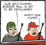 Thumbnail image for La Cucaracha: That crowd-funded 'border wall' is dead (toon)