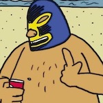 Thumbnail image for La Cucaracha: Just another day at the beach (toon)