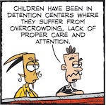 Thumbnail image for La Cucaracha: Trump says Dems caged kids, promises more (toon)