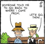 Thumbnail image for La Cucaracha: Pepe y Chepe go back to where they came from (toon)