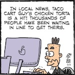 Thumbnail image for La Cucaracha: If you can vote for a chicken sandwich, you can also vote to save the world (toon)