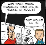 Thumbnail image for La Cucaracha: The nerve of this kid Greta, yelling at adults! (toon)