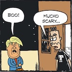 Thumbnail image for La Cucaracha: Your Halloween costume doesn't scare me! (toon)