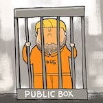 Thumbnail image for Trump wants corrupt officials in a 'public box?'  No problem! (toon)