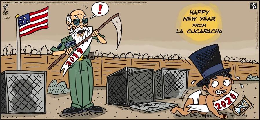 Happy New Year From La Cucaracha Toon Pocho News Y Satire