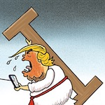 Thumbnail image for President Asterisk: 'My God, My God, Why Hast Thou Forsaken Me?' (toon)