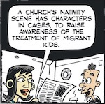 Thumbnail image for La Cucaracha: Who made those Nativity scenes with the cages? (toon)